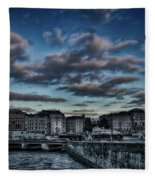 Stockholm In Dark Fleece Blanket