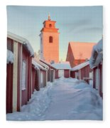 Gammelstad Lulea - Sweden Fleece Blanket