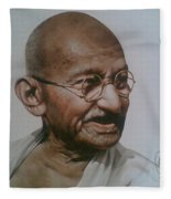 Gandhiji Fleece Blanket