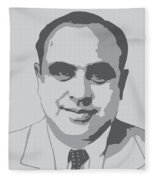 Gangster - Al Capone Fleece Blanket