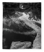 Gapstow Bridge In Central Park - Bw Fleece Blanket