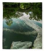Gapstow Bridge In Central Park Fleece Blanket