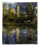 Gapstow Bridge In Central Park Fleece Blanket