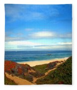 Garapata State Park South Of Monterey Ca Seven Fleece Blanket