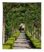 Garden Arbor Path Fleece Blanket