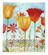 Garden Beauty-jp2960b Fleece Blanket
