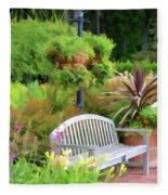 Garden Benches 5 Fleece Blanket
