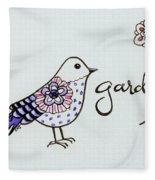Garden Bird Fleece Blanket