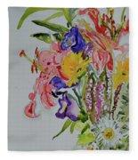 Garden Bouquet Fleece Blanket