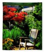 Garden Chair Fleece Blanket
