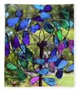 Garden Colored Fan Fleece Blanket