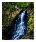 Garden Creek Falls Fleece Blanket
