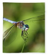 Garden Dragonfly Fleece Blanket
