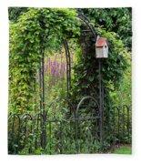 Garden Entrance Fleece Blanket