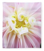 Garden Floral Art Pink Dahlia Flower Baslee Troutman Fleece Blanket