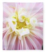 Garden Floral Art Pink Dahlia Flower Baslee Troutman Fleece Blanket