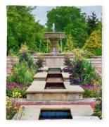 Garden Fountain Fleece Blanket