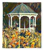 Garden Gazebo Watercolor Fleece Blanket