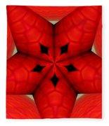 Garden Glass Orb Kaleidoscope Abstract Fleece Blanket