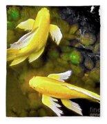 Garden Goldenfish Fleece Blanket
