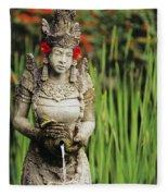 Garden In Bali Fleece Blanket