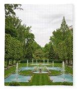 Italian Fountains Of The Garden Fleece Blanket