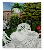 Garden Lights Fleece Blanket