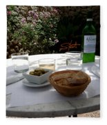 Garden Lunch Mallorca Fleece Blanket