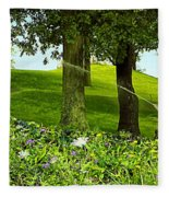 Garden Fleece Blanket