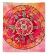 Garden Mandala Fleece Blanket