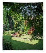 Garden Morning Fleece Blanket