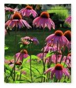 Garden Of Cones Fleece Blanket