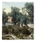 Garden Of Gethsemane Fleece Blanket