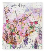 Garden Of Hope  Fleece Blanket