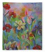 Garden Of Intention - Triptych Center Panel Fleece Blanket