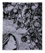 Garden Of Temptation Fleece Blanket