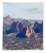 Garden Of The Gods And Colorado Springs Fleece Blanket