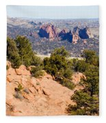 Garden Of The Gods And Springs West Side Fleece Blanket