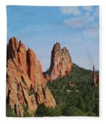 Garden Of The Gods Colorado De  Fleece Blanket