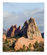 Garden Of The Gods Colorado Springs Fleece Blanket