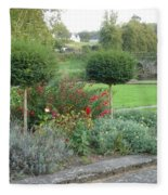 Garden On The Banks Of The Nore Fleece Blanket