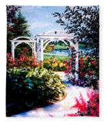 Garden Path Fleece Blanket