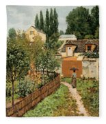Garden Path In Louveciennes Fleece Blanket