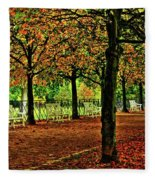 Garden Path, Schloss Biebrich Fleece Blanket