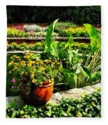 Garden Pond Fleece Blanket