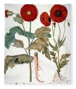 Garden Poppy Fleece Blanket