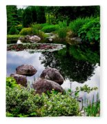 Garden Reflections ... Fleece Blanket