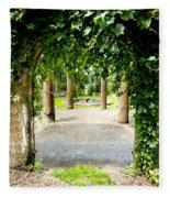 Garden Ruins Fleece Blanket