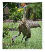 Garden Sandhills Fleece Blanket
