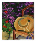 Garden Scene Fleece Blanket